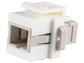 Picture of Fiber Optic Keystone Coupler - SC to SC Multimode Simplex - White