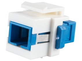 Picture of Fiber Optic Keystone Coupler - SC to SC Singlemode Simplex - White