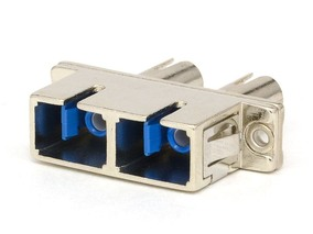 Picture of SC/ST Singlemode Duplex Hybrid Fiber Adapter - PC (Polished Connector)