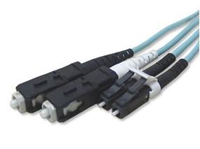 Picture of 50 m Multimode Duplex Fiber Optic Patch Cable (50/125) OM3 Aqua - Laser Opt - LC to SC