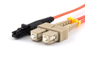 Picture of 5 m Multimode Duplex Fiber Optic Patch Cable (50/125) - SC to MTRJ