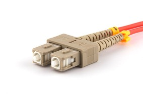 Picture of 25 m Multimode Duplex Fiber Optic Patch Cable (50/125) - SC to SC