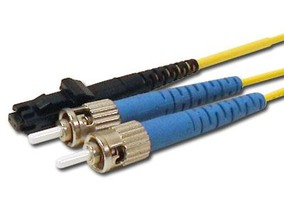 Picture of 3 m Singlemode Duplex Fiber Optic Patch Cable (9/125) - MTRJ to ST