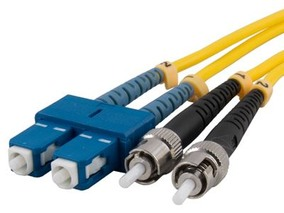 Picture of 5 m Singlemode Duplex Fiber Optic Patch Cable (9/125) - SC to ST