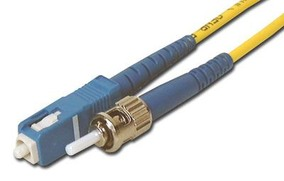 Picture of 3 m Singlemode Simplex Fiber Optic Patch Cable (9/125) - SC to ST