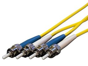 Picture of 3 m Singlemode Duplex Fiber Optic Patch Cable (9/125) - ST to ST