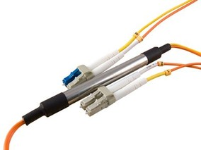 Picture of 1 m Mode Conditioning Duplex Fiber Optic Patch Cable (50/125) - LC (equip.) to LC