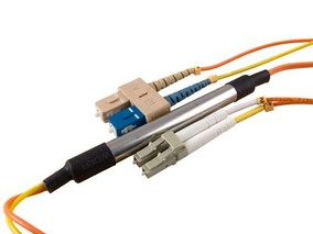 Picture of 5 m Mode Conditioning Duplex Fiber Optic Patch Cable (50/125) - SC (equip.) to LC
