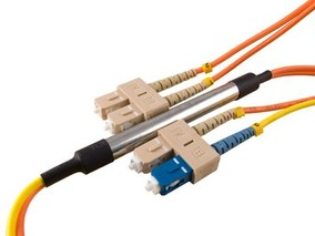 Picture of 1 m Mode Conditioning Duplex Fiber Optic Patch Cable (50/125) - SC (equip.) to SC
