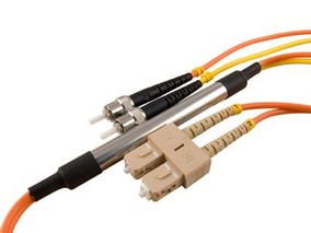 Picture of 5 m Mode Conditioning Duplex Fiber Optic Patch Cable (50/125) - SC (equip.) to ST