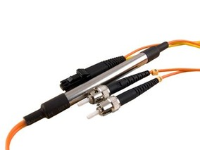 Picture of 5 m Mode Conditioning Duplex Fiber Optic Patch Cable (50/125) - ST (equip.) to MTRJ