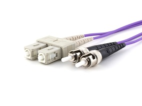 Picture of 25 m Multimode Duplex OM4 Fiber Optic Patch Cable (50/125) - SC to ST