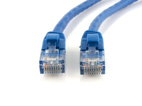 Picture of Blue Booted CAT6 Patch Cable - 3 ft