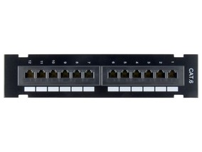 Picture of CAT6 Patch Panel - 12 Port, Wall Mount