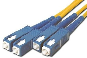 Picture of 1 m Singlemode Duplex Fiber Optic Patch Cable (9/125) - SC to SC