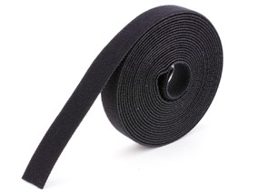 black continuous 1\2 inch hook and loop wrap