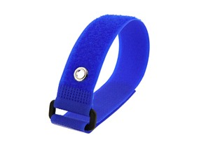 Picture of 12 x 1 Inch Blue Cinch Strap with Eyelet - 5 Pack
