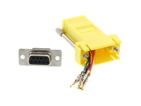 Picture of Modular Adapter Kit - DB9 Female to RJ45 - Yellow