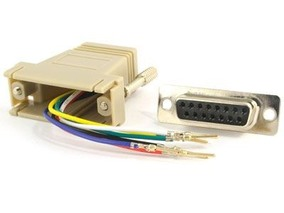 Picture of Modular Adapter Kit - DB15 Female to RJ45 - Beige