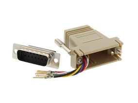 Picture of Modular Adapter Kit - DB15 Male to RJ11 / RJ12 - Beige