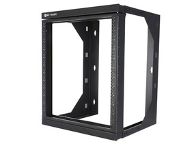 Picture of 12U Adjustable Depth Open Frame Swing Out Wall Mount Rack - 301 Series, Flat Packed