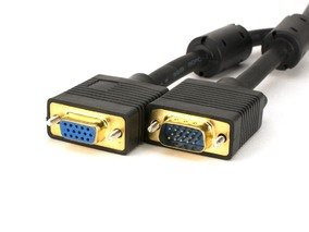 Picture of SVGA Male to Female Video Cable - 6 FT, Gold Plated Connectors