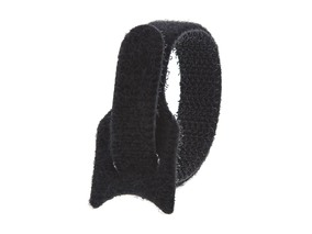 Picture of 6 Inch Black Hook and Loop Tie Wrap - 10 Pack