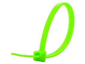 Picture of 4 Inch Neon Green Cable Tie - 100 Pack