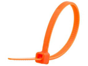 Picture of 4 Inch Orange Cable Tie - 100 Pack
