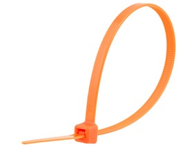 Picture of 8 Inch Orange Cable Tie - 100 Pack