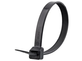 Picture of 8 Inch Black UV Cable Tie - 100 Pack