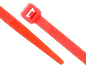 Picture of 11 7/8 Inch Red Cable Tie - 100 Pack