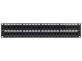 Picture of CAT6 Patch Panel - 48 Port, 2U, Rack Mount, TAA Compliant