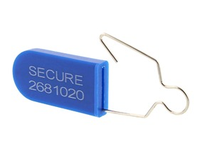 Blue Plastic Padlock Security Seal with Metal Wire