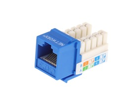 Picture of Blue, 90 Degree, 110 UTP, Qty 50 - CAT6 Keystone Jack Speed Termination
