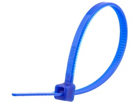 Picture of 4 Inch Dark Blue Cable Tie - 100 Pack