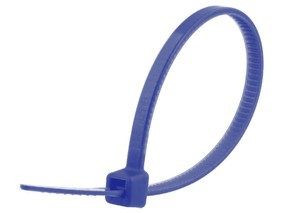 Picture of 4 Inch Blue Cable Tie - 100 Pack