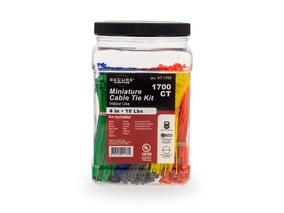 Picture of 1700 Piece 4 Inch Miniature Cable Tie Kit