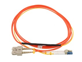 Mode Conditioning Duplex Fiber Optic Patch Cable (50/125) - LC (Equip.) To MTRJ